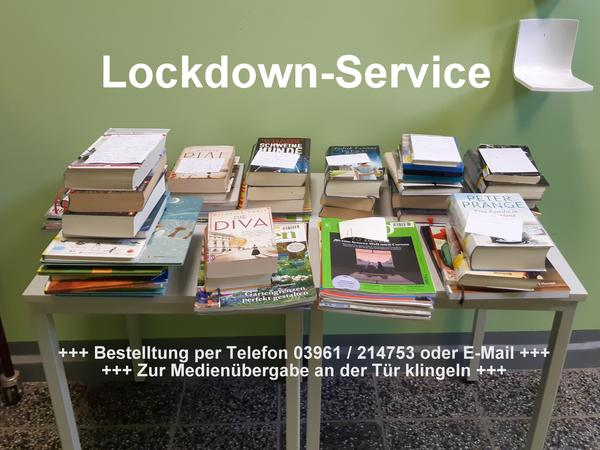 Lockdown Service mit Text